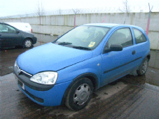 VAUXHALL CORSA MK 2  N/S DOOR  PASSENGERS SIDE  BLUE  2001 - 2005  ( 3 DOOR )